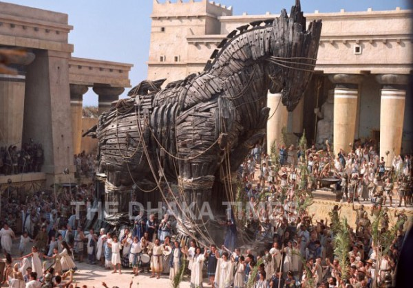 City Wooden Horse of Troy