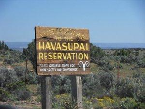 Road sign to Havasupai