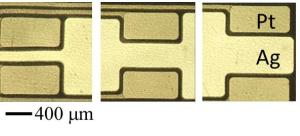 To create new types of sensors, gold films are patterned onto a substrate using microcontract printing and etching.