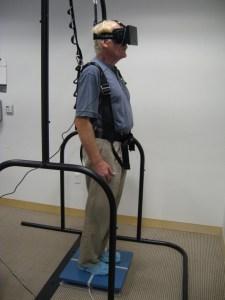 virtual reality tool to test balance
