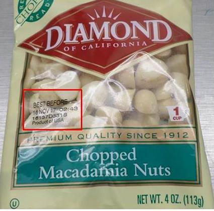Diamond Nuts Recalled for Salmonella