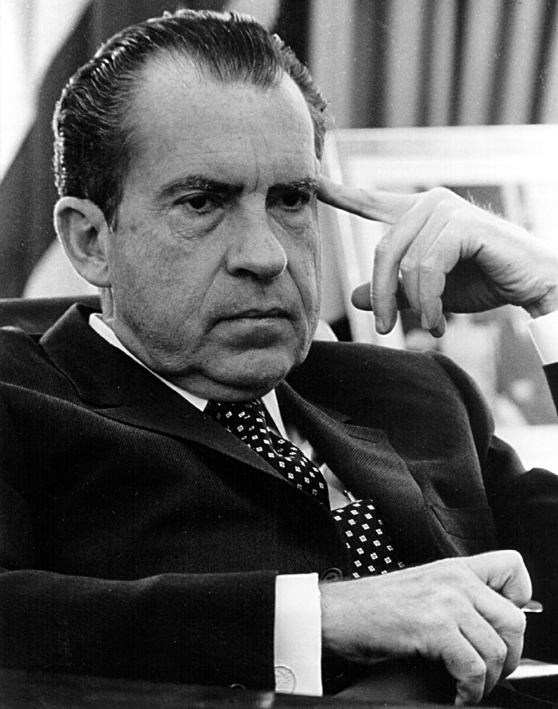 President Richard Nixon in the Oval office on February 19, 1970 in Washington, D.C.