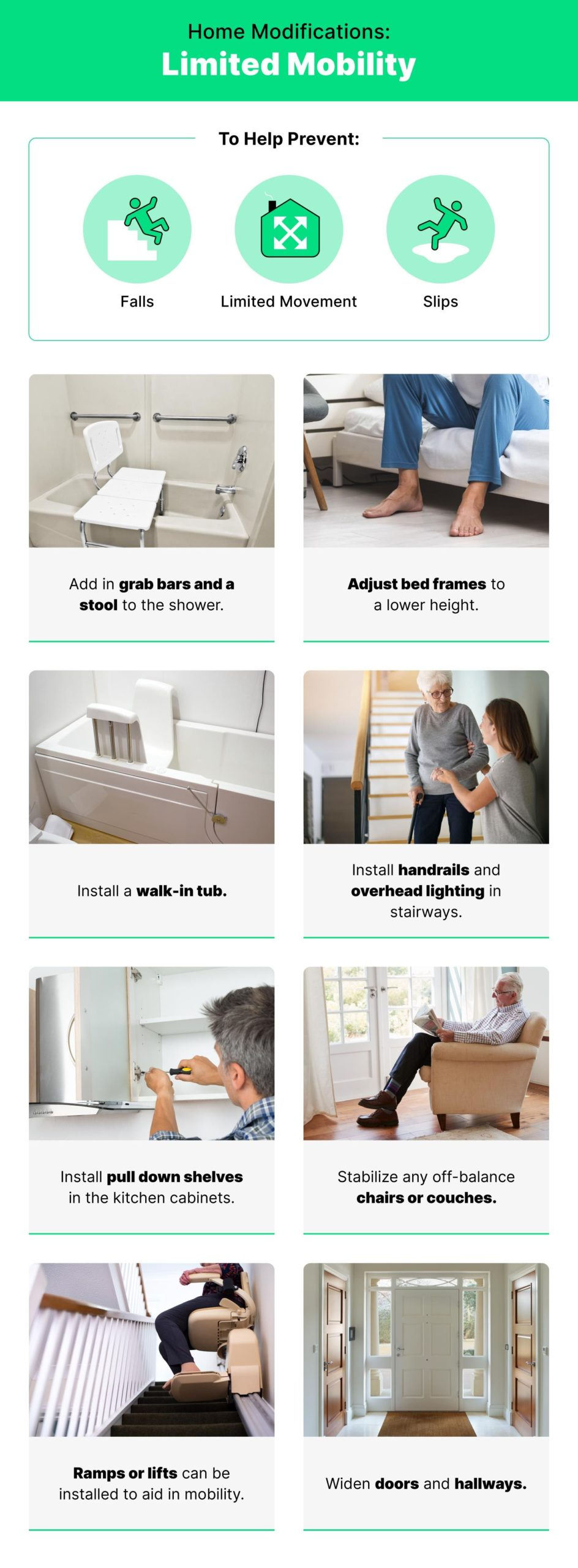 infographic with tips for home repair with images