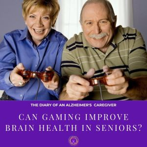 an elderly couple playing video games
