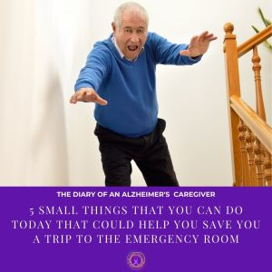 elderly man falling down the stairs