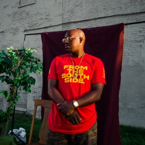 """Image of man wearing red """"From the Southside"""" shirt"""