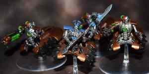Necron Lord Zerg and his gun cohort Zig,Zag and Zug