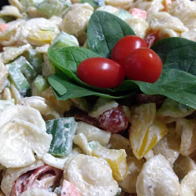 Pasta salad for catering