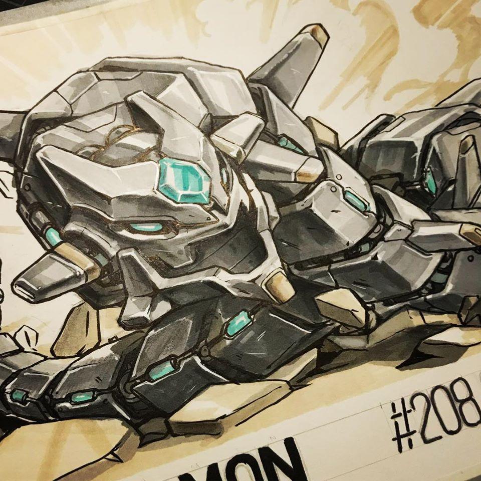 Madow Tsai's Mechamon illustration of Steelix