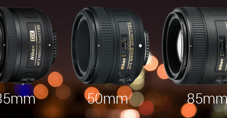 35 mm, 50 mm or 85 mm