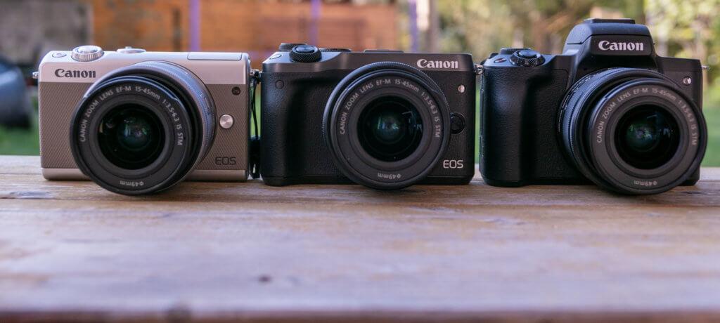 Canon EOS M50 vs  EOS M100 vs  EOS M6/M5: What's the difference