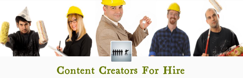 Content Creators For Hire