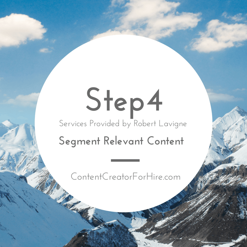 Step 4 - Five Steps of Content Creation