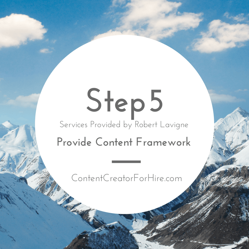 Step 5 - Five Steps of Content Creation