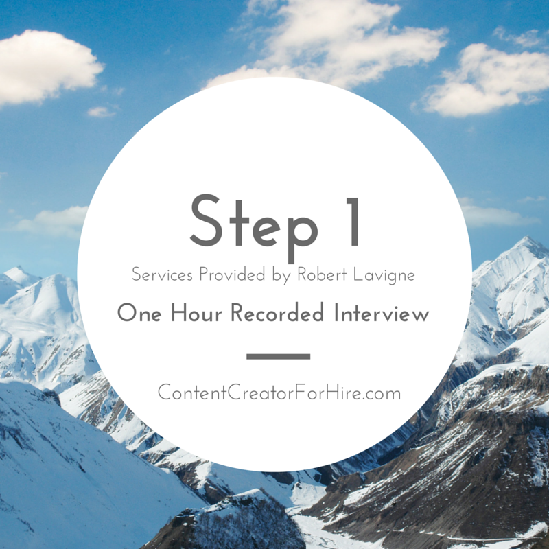 Step 1 - Five Steps of Content Creation