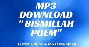 Bismillah Poem