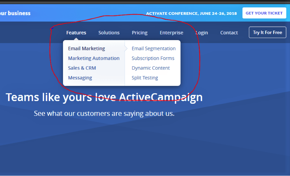 activecampaign features