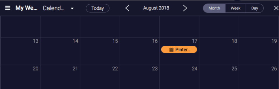 monday calendar view