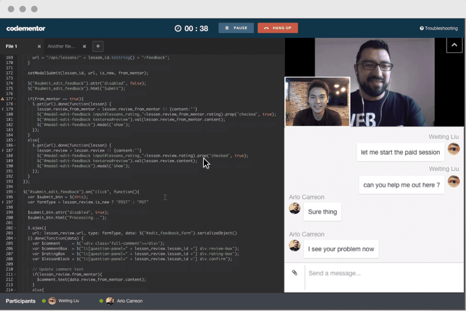 Codementor Video Chat