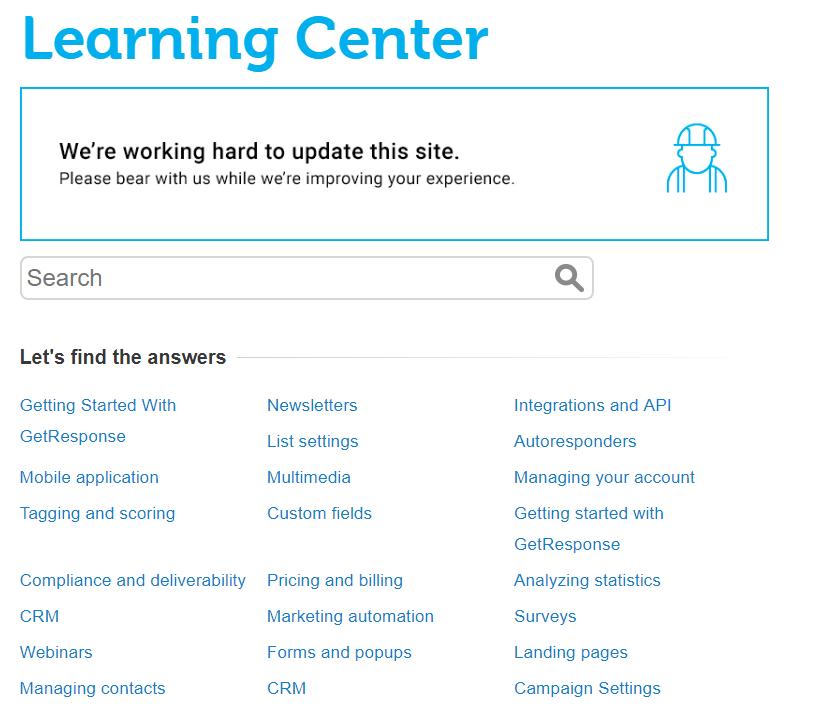 GetResponse-Learning-Center