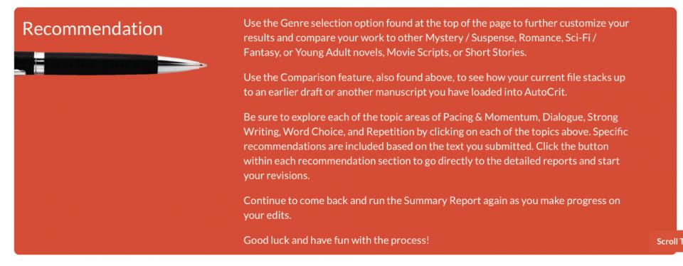 Autocrit-Recommendation
