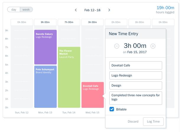 freshbooks timetracker dashboard