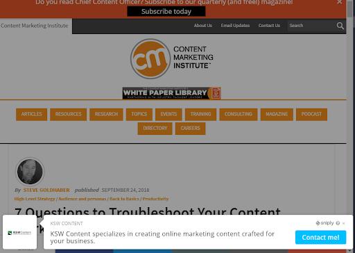 Sniply Cta Screenshot