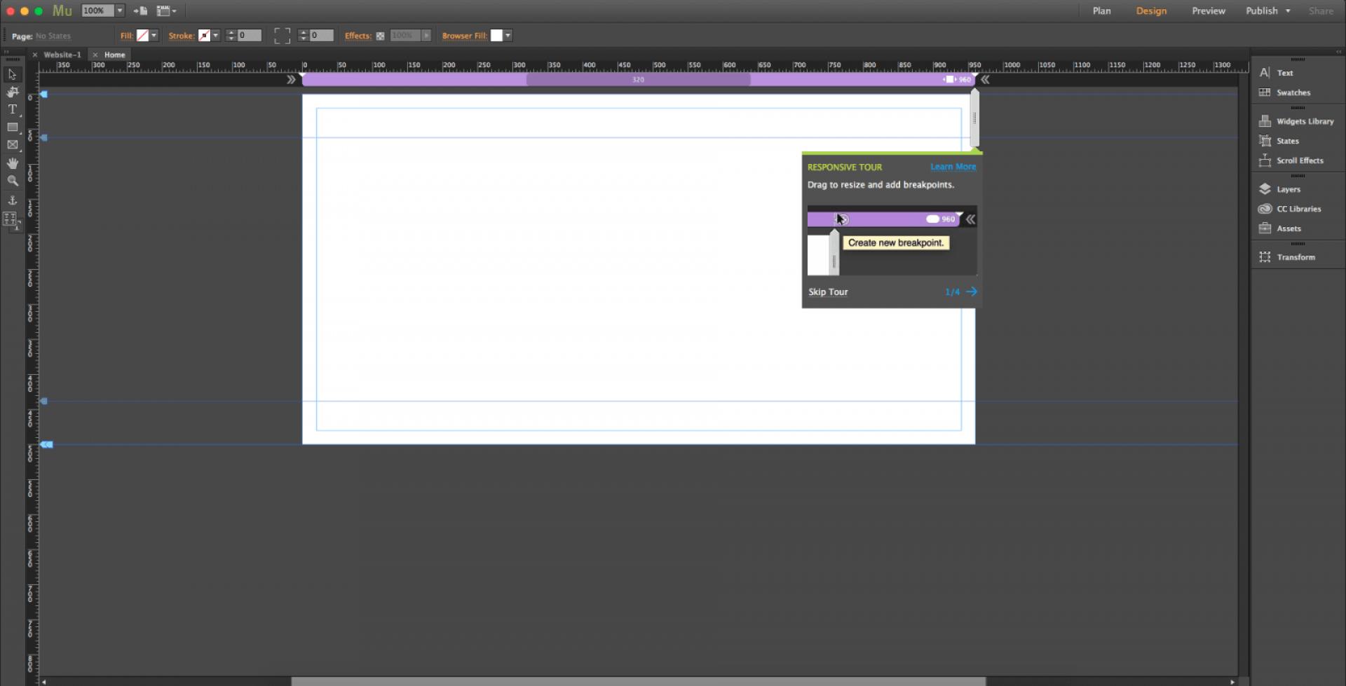 Adobe muse screenshot