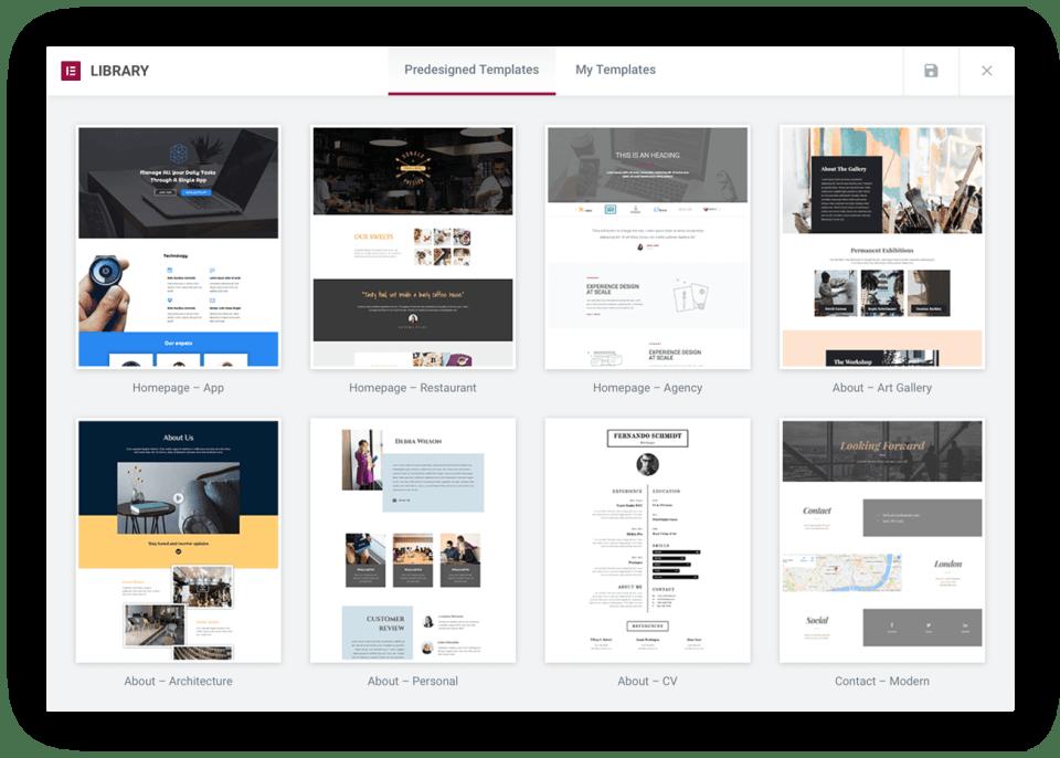 Elementor websites