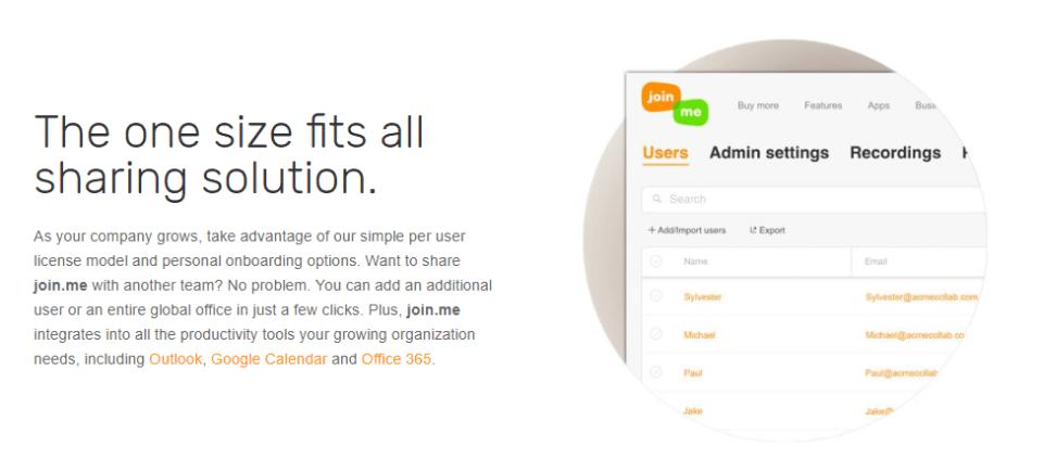 Joinme admin settings