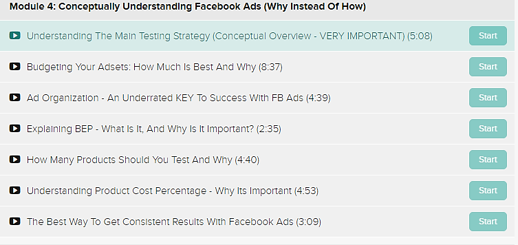 eCom Inner-Circle module 4 conceptually understanding facebook ads
