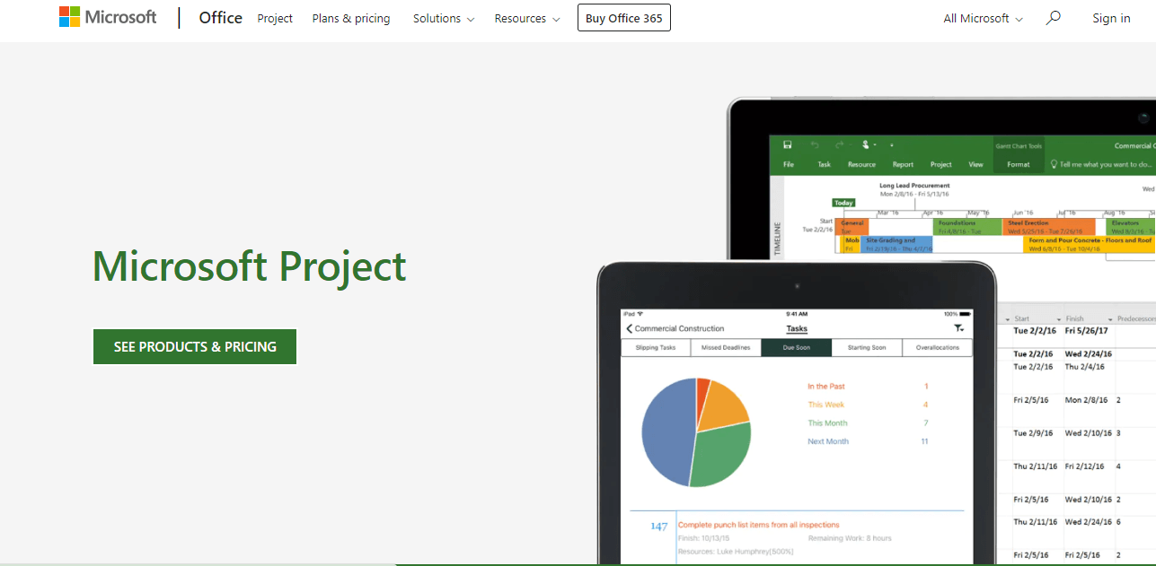 microsoft project home page
