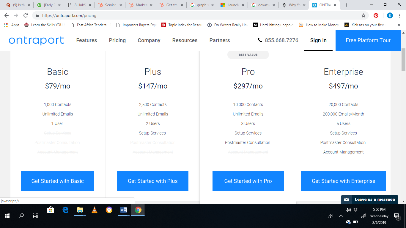 ontraport pricing