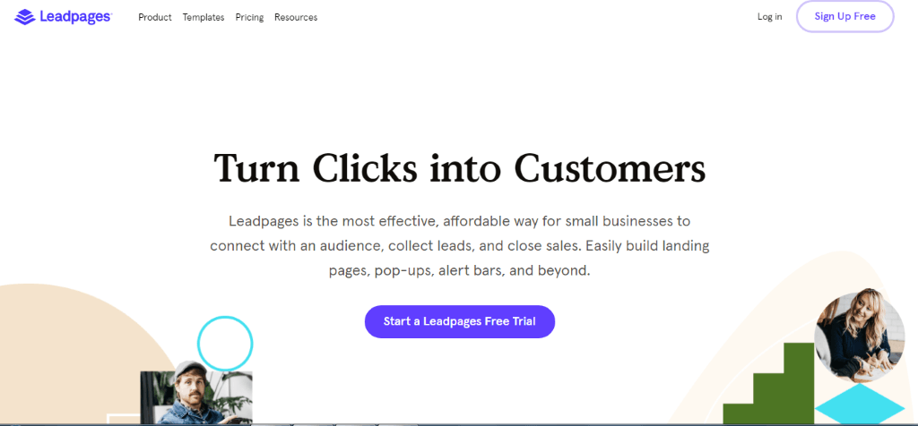 LeadPages homepage
