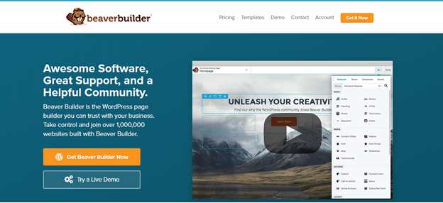 Beaver Builder home page