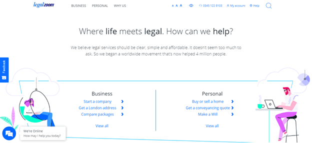 legal zoom home page