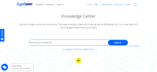 legal zoom knowledge center