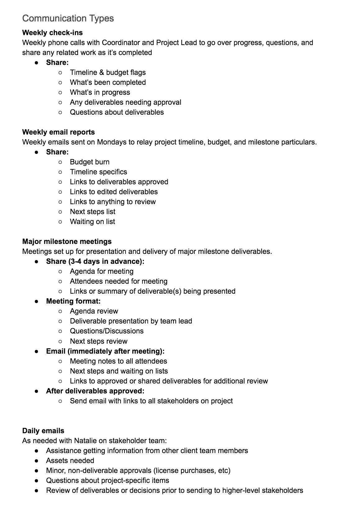 Einen Projekt Kommunikationsplan Erstellen Vorlage