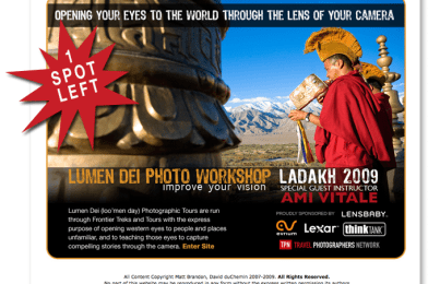 Lumen Dei '09 – One Spot Left!