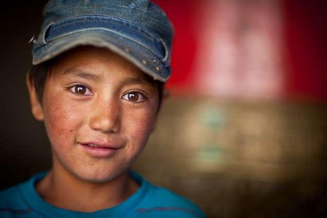 A Ladakhi boy at Lamayuru.