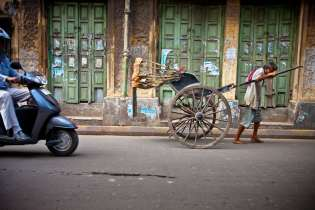 The only place left in the world where you will find pull rickshaws in abundance is Koklata, India.