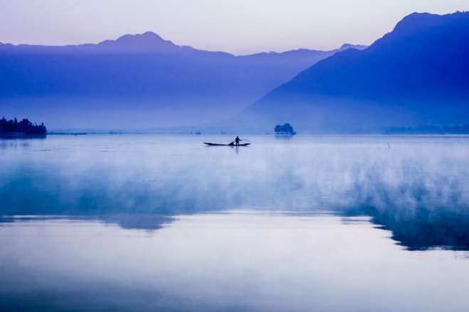 Early Morning on Dal Lake, Srinagar.
