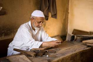 Kashmiri wood carver.