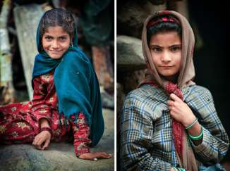 Two young Gujjar girls.