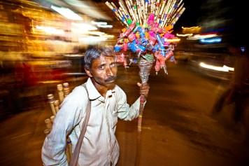 Night life in Varanasi.