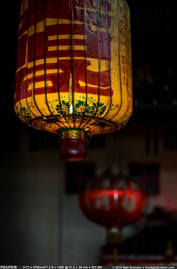 Lanterns in a Taoist temple neat Tanjung Bungah, Penang, Malaysia.
