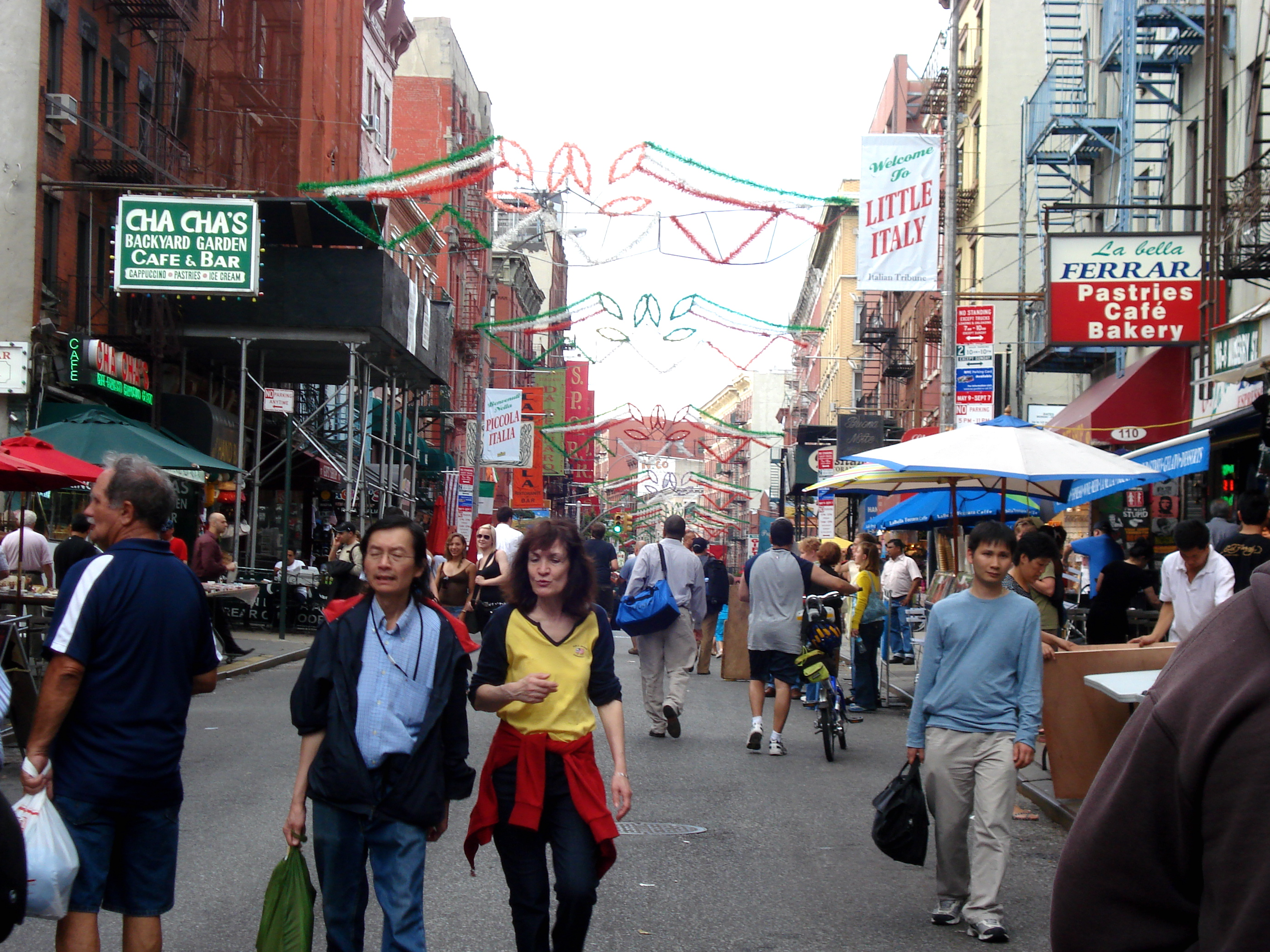 Little Italy, in the middle of Chinatown.  Maybe one day I will go to there.