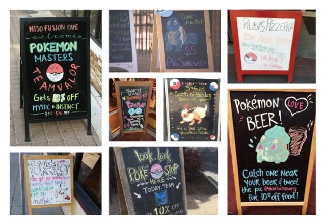 外國已經出現許多站牌來夠過 Pokemon Go來進行宣傳。