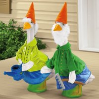 Stupid Things That People Own #42: Tacky Lawn Geese That People Dress Up In Stupid Outfits