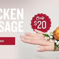 A Florist Is  Is Selling KFC Chicken Corsages